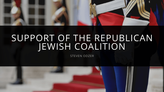 Steven Odzer - Support of the Republican Jewish Coalition