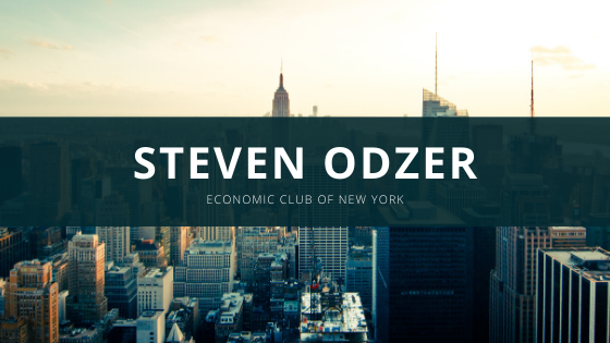 Steven Odzer Talks About What It Means to Be a Member of the Economic Club of New York