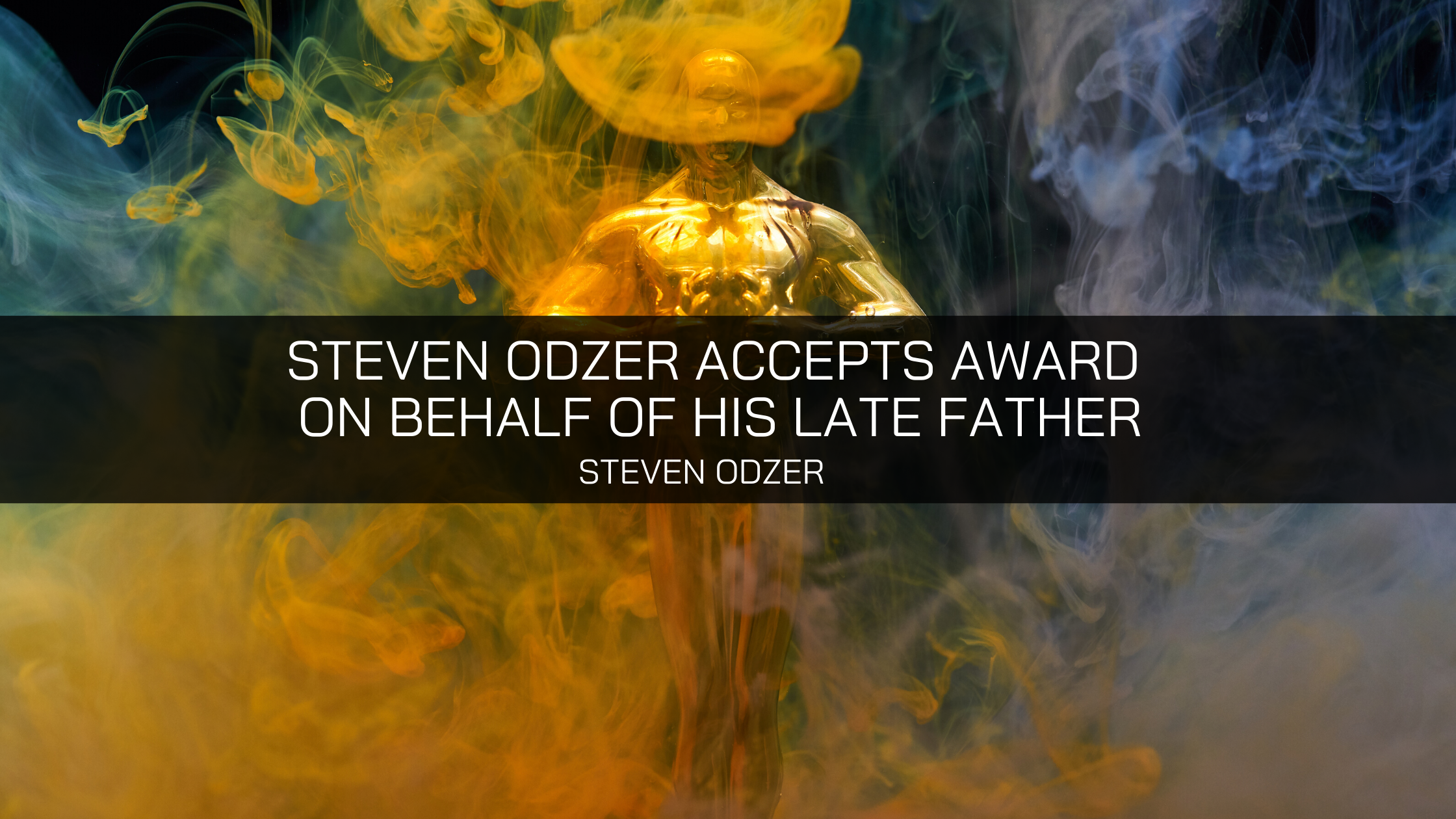 Steven Odzer Accepts Award on Behalf of His Late Father Seymour Odzer