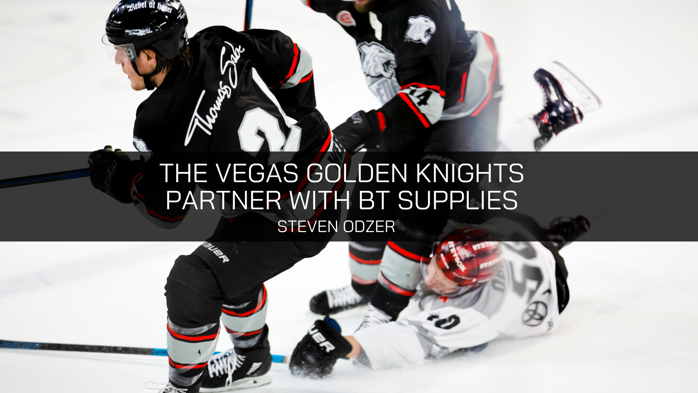 The Vegas Golden Knights Announce their Partnership with BT Supplies and Steven Odzer